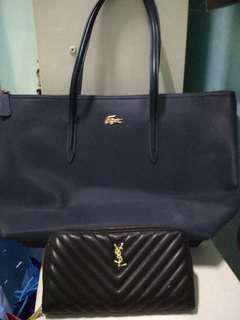Lacoste Tote Bag with Ysl large Wallet
