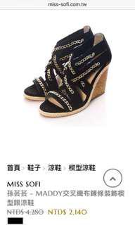 🚚 專櫃Miss Sofi孫芸芸私人穿搭 楔型鞋