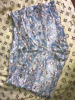 Bongo denim shorts with floral design