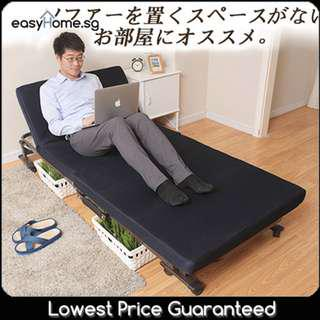 Japanese Style Foldable Bed With Mattress/ Movable Wheels