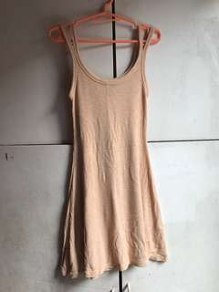 Divided Stretched Nude Mustard dress