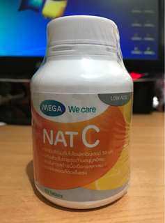 60 tablets Nat C Vitamin C 1000mg Mega Wecare Original dari Thailand
