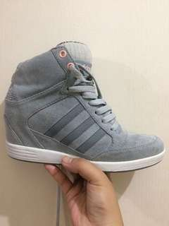 ADIDAS NEO WEDGE SHOES FROM JAPAN * SUED GRAY