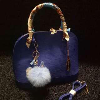 BEACHKINS BLUE HAND BAG / CROSSBODY BAG