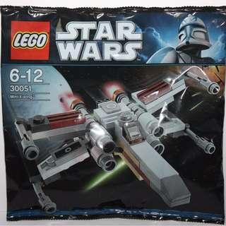 Leeogel [Free Postage] Lego Star Wars 30051 Mini X-Wing X Wing Starfighter Polybag - New & Sealed