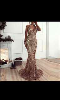 Stunning Fomal Dress V Neck