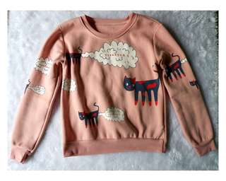 Pink Cute Cat Sweater