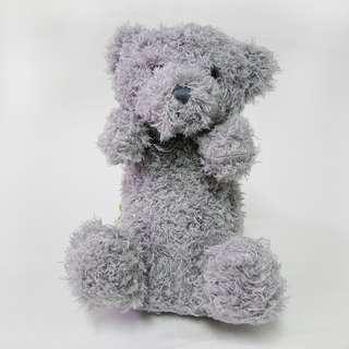 🚚 長毛灰熊 娃娃 可當包包