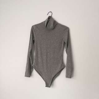 PLT grey roll neck bodysuit