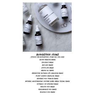THE ORDINARY READYSTOCK ITEMS