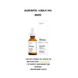 THE ORDINARY RESVERATOL FERULIC ACID READYSTOCK