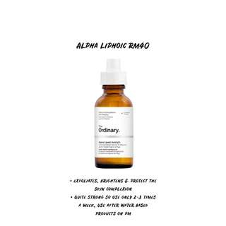 THE ORDINARY ALPHA LIPHOIC READYSTOCK