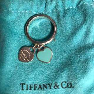 Tiffany and Co double heart tag ring