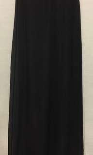 Scanlan & Theodore 100% Silk Black Sheer Slip Skirt Full Length Size 8