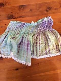Free size tie dye shorts