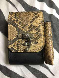 Python Skin Mini Pouch
