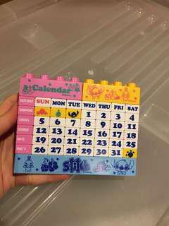 Stitch Lego Calendar
