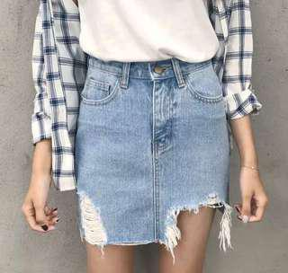 Ripped Jeans Skirt (Buy ANY 2 FREE Shipping)