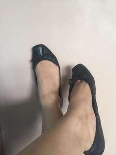 Jessica Simspon Leather Ballerinas