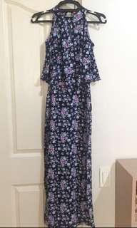 Zalora Halter Floral Maxi Dress