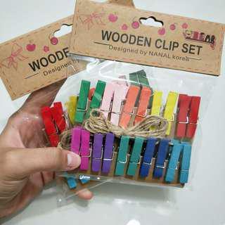 Wooden Clip Set(coloured🌈)