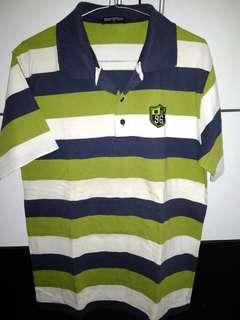Polo shirt greenwhite ❤