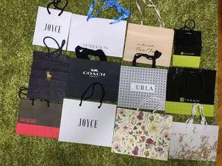 多款名牌 牌子紙袋 (細size) Shopping paper bag (small size)