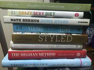 Home decor books and coffee table books