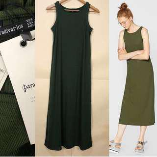 Repriced❗️BNWT Stradi Olive Green Maxi Ribbed Dress