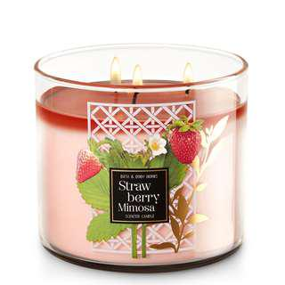 BBW Strawberry Mimosa 3-Wick Scented Candle