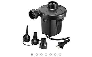 733•KUMEED Electric Air Pump Quick-Fill Inflator for Camp Bed Mattress Rafts Pool Float, Inflator Deflator in 110V - Black
