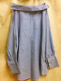 全新✨左右不對稱造型長版上衣
