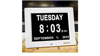 734•DayClox The Original Memory Loss Digital Calendar Day Clock with Extra Large Non-Abbreviated Day & Month. Perfect for Seniors