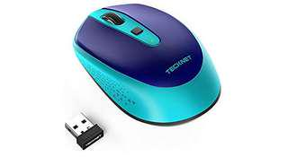 735•TeckNet Omni Small Portable 2.4G Wireless Optical Mouse with USB Nano Receiver for Laptop Computer, 18 Month Battery Life, 3 Adjustable DPI Levels: 2000/1500/1000 DPI