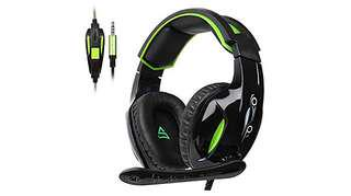 736•SUPSOO G813 Xbox One, PS4 Gaming Headset 3.5mm wired Over-ear Noise Isolating Microphone Volume Control for Mac / PC/ Laptop / PS4/Xbox one -Black