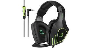 737•Supsoo G820 Gaming Headset Headphone 3.5mm Wired Over-ear with Mic Volume Control for PC/XboxOne/PS4