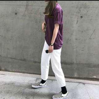 轉賣 小鹿雜貨店 夏季簡約基本款紫色寬鬆T恤
