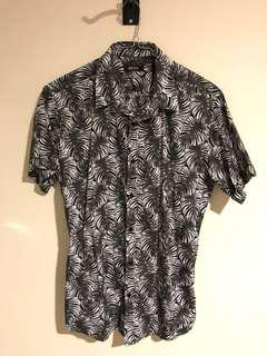 Hawaiian Shirt black and white