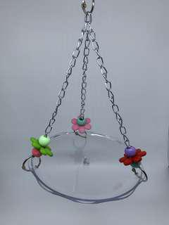 Hanging Plate with Beads for Parrots