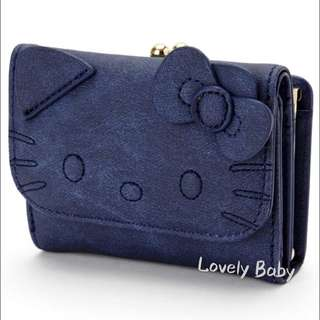 🇯🇵日本限定 - 新產品🇯🇵Hello Kitty 銀包 (有散子間隔)💙深藍色 💙
