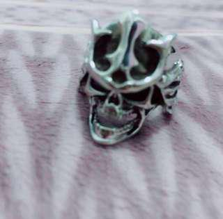 武士骷髏頭造型戒指