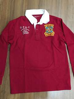 Red Long-sleeved Polo Shirt