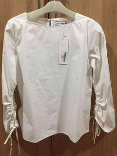 COTTON INK LONG SLEEVE WHITE SHIRT