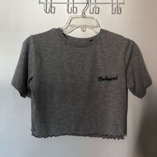 TOPSHOP Babygirl Cropped T-shirt