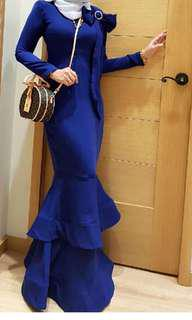 Calacara balenciaga dress royal blue raya 2018