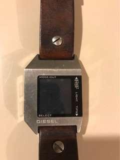 Diesel leather digital watch