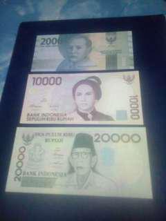 Set indonesia, 2000 10000 20000