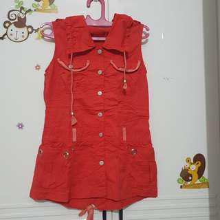 💕 promo orange-red vest