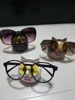 Cute Cat/ Kitty Specs Holder With 3D Tail