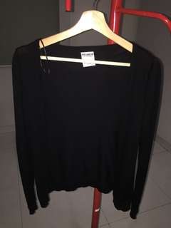 PULL & BEAR CARDIGAN BLACK